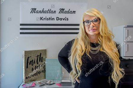 Stock Image of Kristin M. Davis opened ' Michelle 'Bombshell' McGee Beauty Lab', a beauty salon at an East Harlem storefront