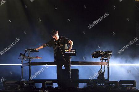 Stock Picture of Petit Biscuit performing