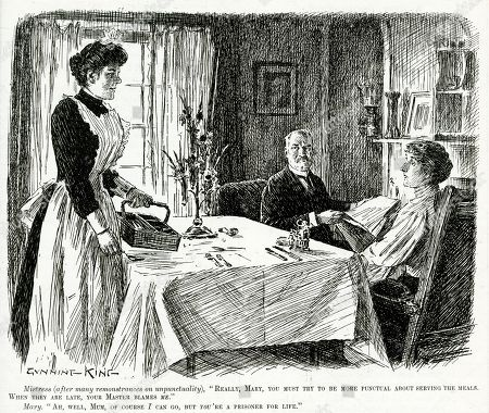 Scenes Punch Servants Female Housemaids 1906 You Try Punctual