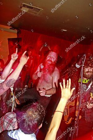 Editorial picture of Valient Thorr performing at Detroit Bar, Costa Mesa, California, America - 10 Apr 2009