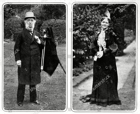Sir Benjamin and Lady Stone. Benjamin Stone Was A Conservative Mp For East Birmingham Between 1895-1909. He Was Known For His Keen Interest in Photography and Was Appointed Offical Photographer in Westminster Abbey For King George's Coronation. During His Years in Parliament He Became the 'Unoffical' House of Commons Photographer Producing Over His Lifetime 30 000 Photographic Plates. the Illustrated London News. 1914. Middle Two Pics.