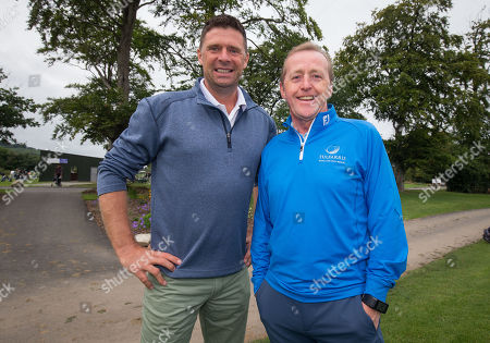 Pictured at the PREM Group Irish Masters Pro Am at the stunning Tulfarris Hotel & Golf Resort, Blessington, Co Wicklow, is Niall Quinn with Jim Murphy, CEO Prem Group. The PREM Group Irish Masters is the penultimate tournament on the EuroPro Tour and takes place at Tulfarris Hotel & Golf Resort from Wednesday August 29th-Friday August 31st. Some of the famous names to take part in the Pro Am competition were Niall Quinn, Shane Byrne, Stephen Hunt and Martin Delany, and they were led out by Tulfarris Touring Professional Simon Thornton