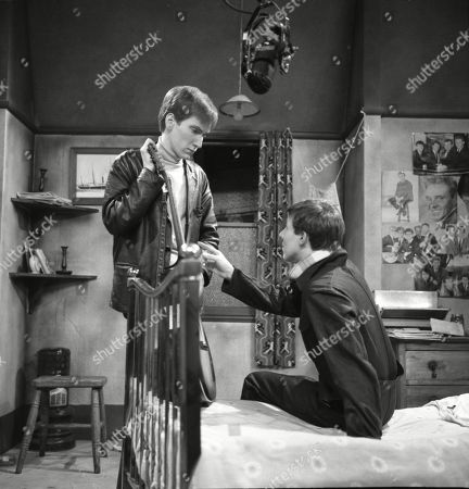 Christopher Sandford (as Walter Potts) and Philip Lowrie (as Dennis Tanner)