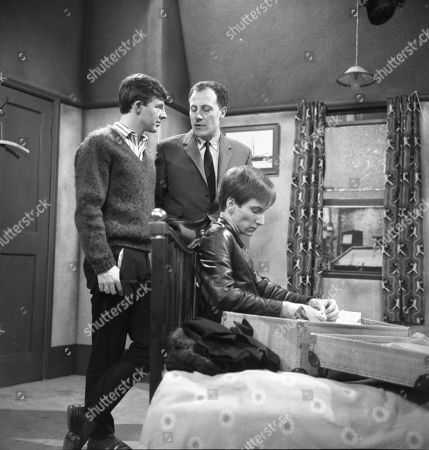Philip Lowrie (as Dennis Tanner), Stanley Meadows (as Laurie Frazer) and Christopher Sandford (as Walter Potts)