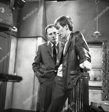 Stanley Meadows (as Laurie Frazer) and Christopher Sandford (as Walter Potts)