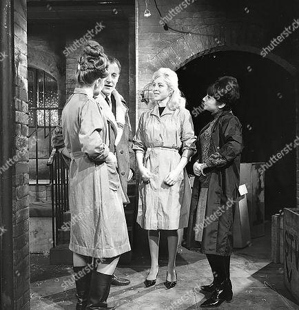 Sandra Gough (as Irma Ogden), Stanley Meadows (as Laurie Frazer), Yvonne Walsh (as Joyce) and Frances Brozel (as Mavis)