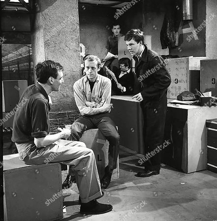 Stock Image of Neville Barber (as Ronnie), Kenneth Colley (as Lionel) and Philip Lowrie (as Dennis Tanner)