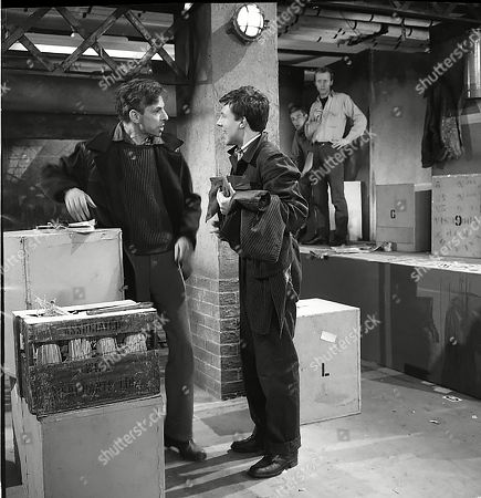 Reginald Jessup (as Mick O'Connell), Philip Lowrie (as Dennis Tanner) and Kenneth Colley (as Lionel)