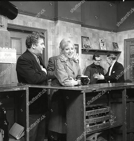 Peter Adamson (as Len Fairclough) and Yvonne Walsh (as Joyce)