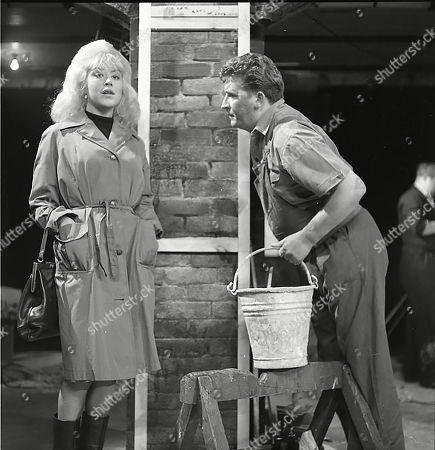 Joyce Lennox (as Yvonne Walsh) and Peter Adamson (as Len Fairclough)