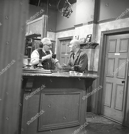 Arthur Leslie (as Jack Walker) and Jerrold Wells (as Ted Ashley)