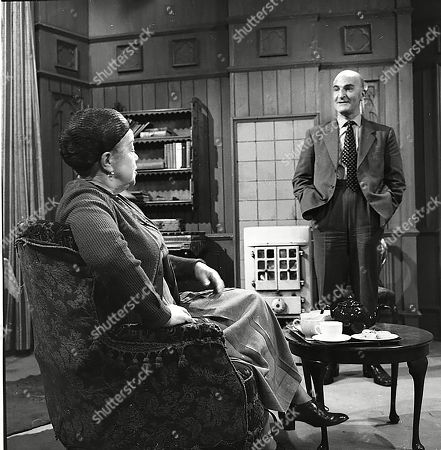 Stock Picture of Violet Carson (as Ena Sharples) and Jerrold Wells (as Ted Ashley)