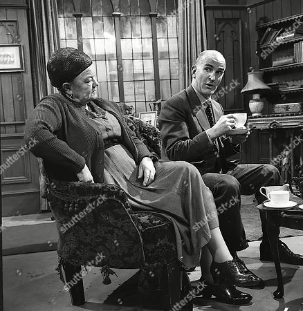 Stock Photo of Violet Carson (as Ena Sharples) and Jerrold Wells (as Ted Ashley)