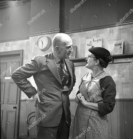 Jerrold Wells (as Ted Ashley) and Lynne Carol (as Martha Longhurst)