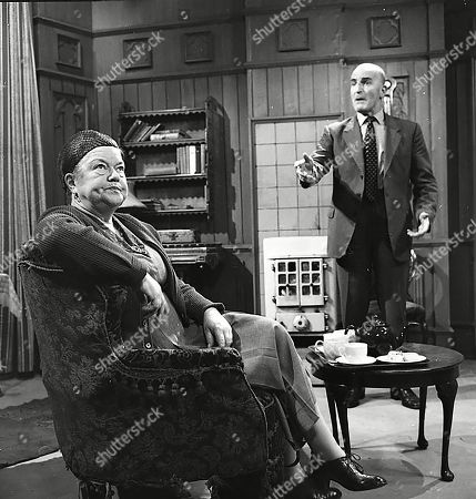 Stock Image of Violet Carson (as Ena Sharples) and Jerrold Wells (as Ted Ashley)