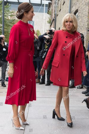 Crown Princess Mary and Brigitte Trogneux.