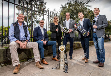 Pictured (L-R) Doddie Weir, Al Kellock, Emma Dodds, Chris Pattersen, Rory Lawson and Rory Hamilton at today's launch