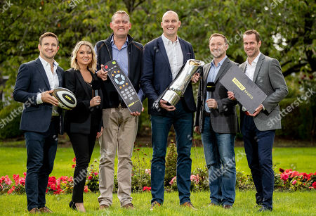 Pictured (L-R) Rory Lawson, Emma Dodds, Doddie Weir, Al Kellock, Rory Hamilton and Chris Pattersen at today's launch