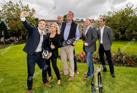 Pictured today (L-R) Rory Lawson, Emma Dodds, Al Kellock, Doddie Weir, Rory Hamilton and Chris Pattersen at today's launch