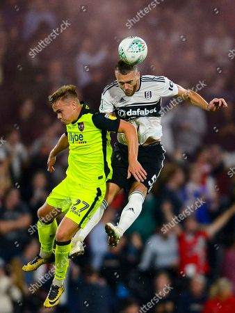 Calum Chambers of Fulham and Archie Collins of Exeter City