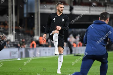 Calum Chambers of Fulham  of Fulham warming up