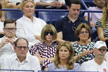 Anna Wintour sits alongside Roger Federer's mother Lynette Federer.