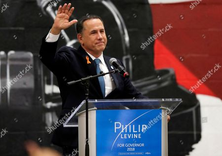 Democratic gubernatorial candidate Philip Levine waves after giving a concession speech, in Miami