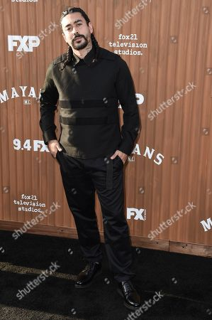 """Gino Vento attends the LA Premiere of """"Mayans M.C."""" at the TCL Chinese Theatre, in Los Angeles"""