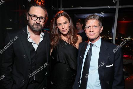Director Pierre Morel, Jennifer Garner and Robert Simonds, Chairman and CEO STX Entertainment