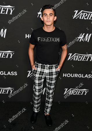 Tyler Alvarez arrives at Variety's Power of Young Hollywood at the Sunset Tower Hotel, in Los Angeles