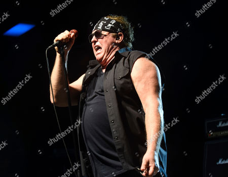 Mike Reno of Loverboy performs at Pompano Beach Amphitheater on in Pompano Beach, Fla