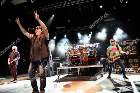 Paul Dean, from left, Mike Reno, Matt Frenette, Ken Sinnaeve. Paul Dean, from left, Mike Reno, Matt Frenette and Ken Sinnaeve of Loverboy perform at Pompano Beach Amphitheater on in Pompano Beach, Fla