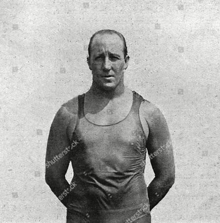 Cecil Patrick Healy (28 November 1881 - 29 August 1918) Australian Freestyle Swimmer of the 1900s and 1910s Who Won Silver in the 100 M Freestyle at the 1912 Summer Olympics in Stockholm. He Also Won Gold in the 4 × 200 M Freestyle Relay. He Was Killed in the First World War at the Somme During an Attack On A German Trench. Unattributed Photograph in the Illustrated Sporting and Dramatic News, 7 September 1918
