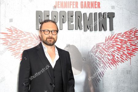 French director Pierre Morel arriving at the World Premiere of Peppermint at the Regal LA LIVE in Los Angeles, California, USA 28 August 2018. The movie opens in the US on 07 September 2018.