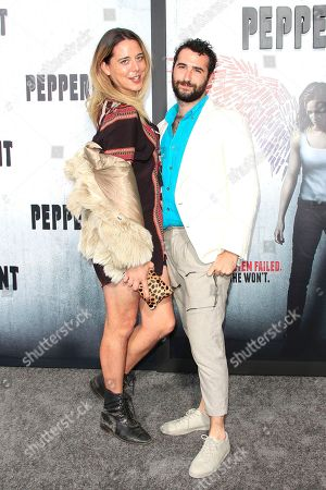 US actor/cast member (L) Jason Greene and US actor Jordan Firstman arriving at the World Premiere of Peppermint at the Regal LA LIVE in Los Angeles, California, USA 28 August 2018. The movie opens in the US on 07 September 2018.