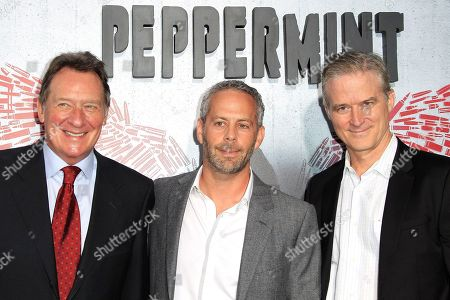 US producers (L-R) Gary Lucchesi, Eric Reid, Richard Wright arriving at the World Premiere of Peppermint at the Regal LA LIVE in Los Angeles, California, USA 28 August 2018. The movie opens in the US on 07 September 2018.