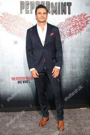 Colombian actor/cast member Juan Pablo Raba arrives at the world premiere of 'Peppermint' at the Regal LA LIVE in Los Angeles, California, USA 28 August 2018. The movie opens in the US on 07 September 2018.