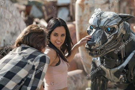 Stock Image of Alex Neustaedter as Miles, Becky G as Sara,