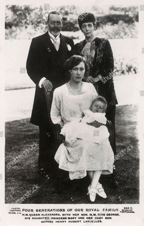 Editorial photo of Four Generations of British Royalty, 1923