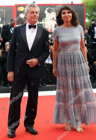 Members of the 'Venice Virtual Reality' jury Danish director Susanne Bier (R) and Italian writer Alessandro Baricco (L) arrive for the opening ceremony and screening of 'First Man' at the 75th annual Venice International Film Festival, in Venice, Italy, 29 August 2018. The festival runs from 29 August to 08 September.