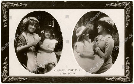 Ellaline Terriss with Her Daughter Betty. Postcard