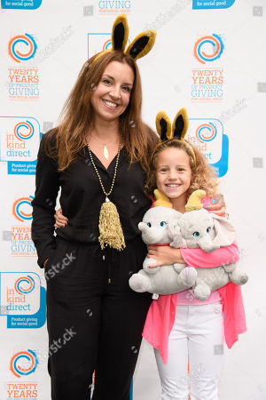 Stock Image of Sarah Willingham and daughter Nelly (aged 8)