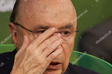 Brazil's Presidential candidate for the Democratic Movement Party, and former finance minister Henrique Meirelles speaks during a debate at the National Confederation of Agriculture, in Brasilia, Brazil, . Brazil will hold general elections on Oct. 7