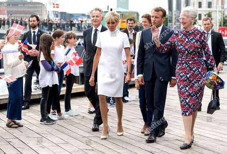 Francois Zimeray, Brigitte Trogneux, Emmanuel Macron and Queen Margrethe II of Denmark