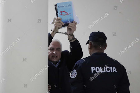 Editorial photo of Panamanian former President Ricardo Martinelli trial hearing, Panama City - 29 Aug 2018
