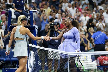 Stock Photo of Carina Witthoeft congratulates Serena Williams