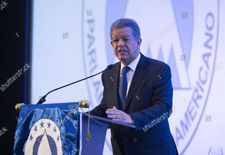 Former Dominican President Leonel Fernandez speaks during the forum 'Role and Futue of Political Parties towards 2030', organized by the Central American Parliament (Parlacen), in Santo Domingo, Dominican Republic, 29 August 2018.