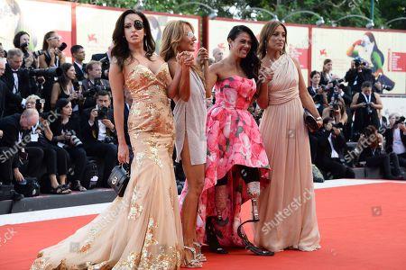 Gessica Notaro, Jo Squillo, Giusy Versace and Francesca Carollo