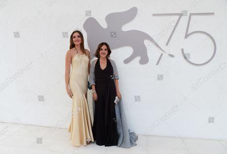 Stock Photo of Miss Italia 2017 Alice Rachele Arlanch and Patrizia Mirigliani