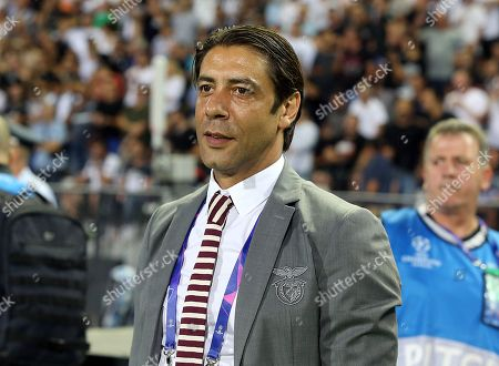 Benfica's director of football Rui Costa reacts during the UEFA Champions League playoff, second leg, soccer match between PAOK Thessaloniki and Benfica in Thessaloniki, northern Greece, 29 August 2018.